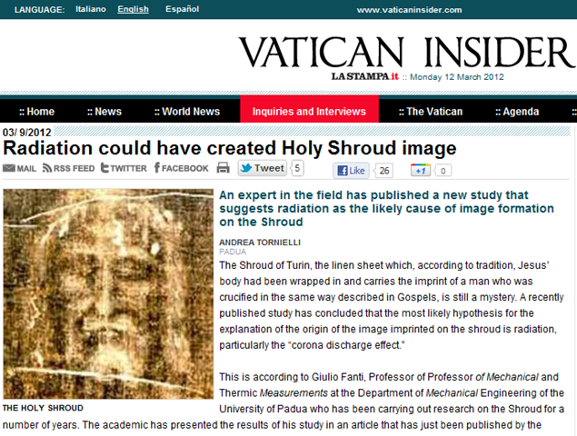 shroud of turin essay Scientific papers and articles scientific research and essays vol 7 (29), pp co-founder of the 1978 sturp team and founder of the turin shroud center of.